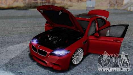 BMW M5 2012 Stance Edition para las ruedas de GTA San Andreas