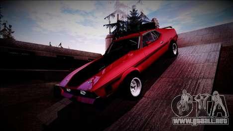 1971 Ford Mustang Rusty Rebel para GTA San Andreas vista hacia atrás
