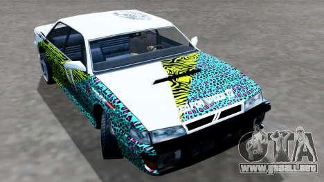 Sultan 4 Drift Drivers V2.0 para GTA San Andreas vista posterior izquierda