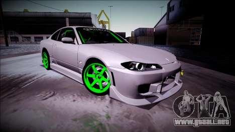 Nissan Silvia S15 Drift Monster Energy para GTA San Andreas left