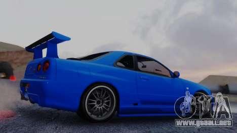 Nissan Skyline R34 Full Tuning para GTA San Andreas left
