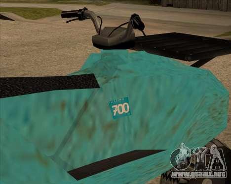 QuadNew v1.0 para GTA San Andreas vista posterior izquierda