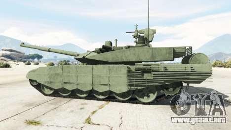 GTA 5 T-90MS vista lateral trasera derecha