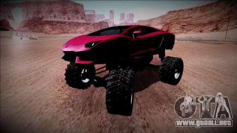 Lamborghini Aventador Monster Truck para visión interna GTA San Andreas