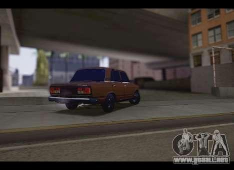 VAZ 2107 Oper para GTA San Andreas vista posterior izquierda