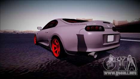 Toyota Supra Drift Monster Energy para GTA San Andreas vista posterior izquierda