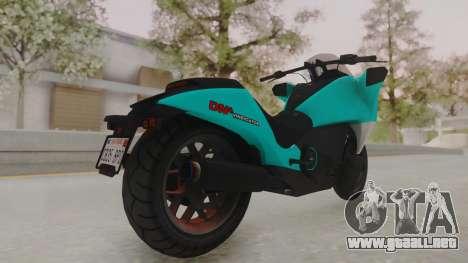 GTA 5 Dinka Vindicator SA Light para GTA San Andreas vista posterior izquierda