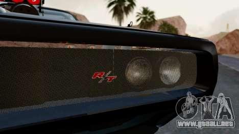 Dodge Charger from FnF4 para visión interna GTA San Andreas