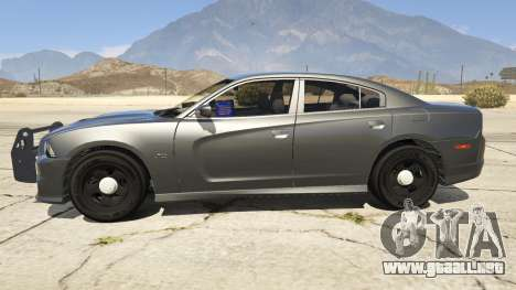 GTA 5 2012 Unmarked Dodge Charger vista lateral izquierda