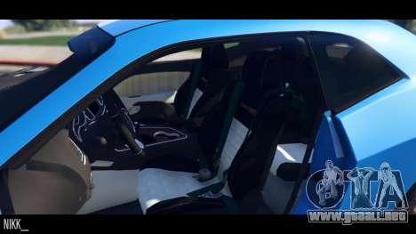 GTA 5 Dodge Challenger 2015 vista lateral trasera derecha