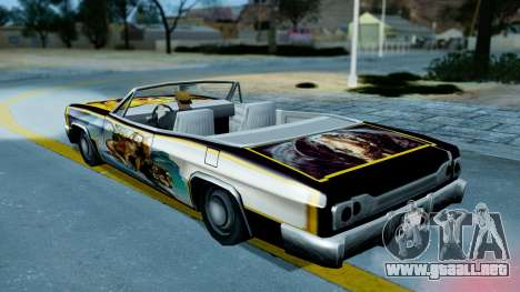 Slamvan New PJ para GTA San Andreas vista hacia atrás
