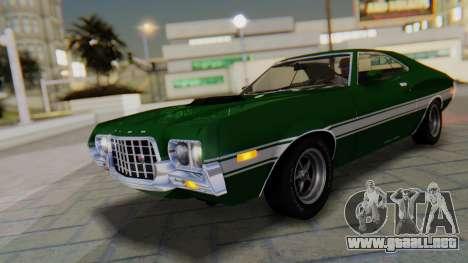 Ford Gran Torino Sport SportsRoof (63R) 1972 PJ1 para vista inferior GTA San Andreas
