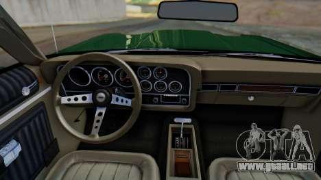 Ford Gran Torino Sport SportsRoof (63R) 1972 IVF para visión interna GTA San Andreas