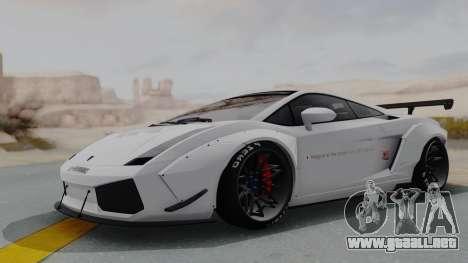 Lamborghini Gallardo 2005 LW LB Performance para GTA San Andreas