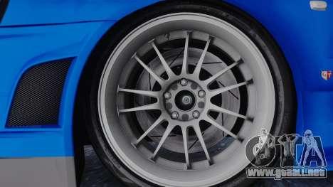 Nissan Skyline R34 Full Tuning para GTA San Andreas vista posterior izquierda