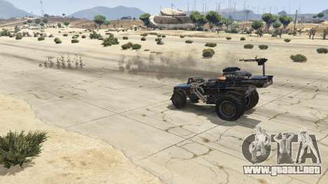 GTA 5 Mad Max The Gigahorse vista lateral derecha