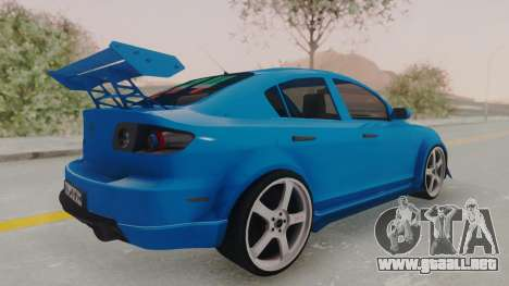 Mazda 3 Full Tuning para GTA San Andreas left
