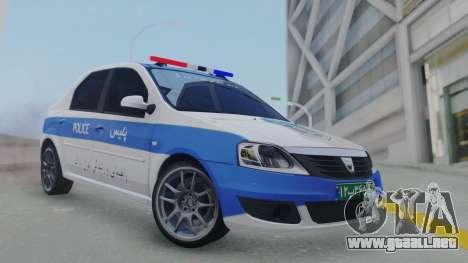 Dacia Logan Iranian Police para GTA San Andreas
