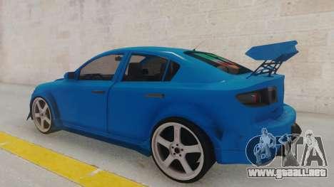 Mazda 3 Full Tuning para GTA San Andreas vista posterior izquierda