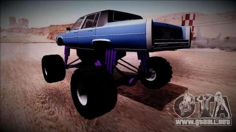 GTA 4 Emperor Monster Truck para GTA San Andreas left
