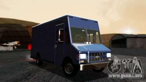 Boxville from GTA 5 without Dirt para la visión correcta GTA San Andreas