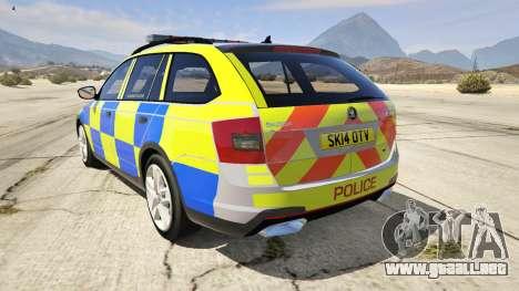 GTA 5 2014 Police Skoda Octavia VRS Estate vista lateral izquierda trasera
