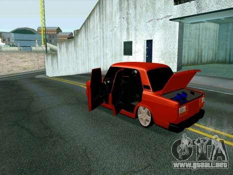 VAZ 2107 Rang Rover Edition para la visión correcta GTA San Andreas