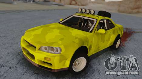 Nissan Skyline R34 Rusty Rebel para GTA San Andreas