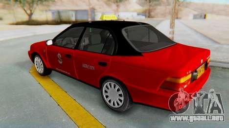 Toyota Corolla Dollar Taxi para la visión correcta GTA San Andreas
