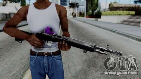 Purple Rifle para GTA San Andreas tercera pantalla