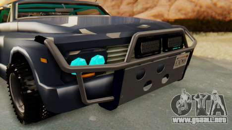 Slamvan v2.0 para GTA San Andreas vista hacia atrás
