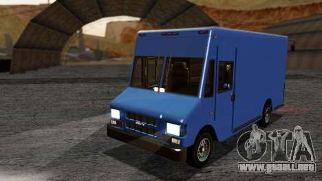 Boxville from GTA 5 without Dirt para GTA San Andreas