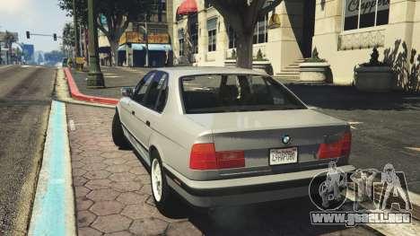 GTA 5 BMW 535i E34 v1.1 vista lateral izquierda trasera