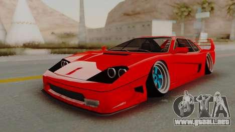 Turismo Saber X para GTA San Andreas