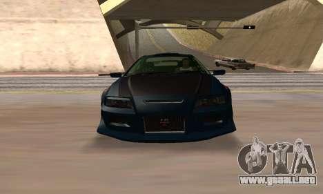 Nissan Skyline R34 Sunray (FlatOut 2) para la visión correcta GTA San Andreas