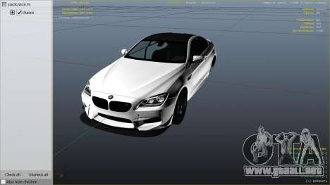 GTA 5 2013 BMW M6 Coupe vista lateral derecha