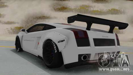 Lamborghini Gallardo 2005 LW LB Performance para GTA San Andreas left