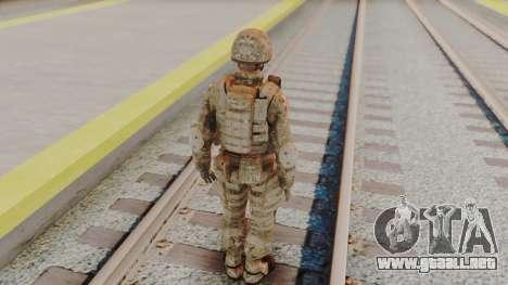 US Army Multicam Soldier from Alpha Protocol para GTA San Andreas tercera pantalla