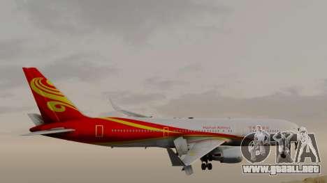 Boeing 767-300ER Hainan Airlines para GTA San Andreas vista posterior izquierda