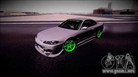 Nissan Silvia S15 Drift Monster Energy para visión interna GTA San Andreas
