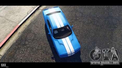 GTA 5 Dodge Challenger 2015 vista lateral izquierda