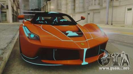 Ferrari LaFerrari TRON Edition v1.0 para la visión correcta GTA San Andreas
