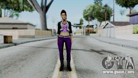 Shaundi from Saints Row para GTA San Andreas segunda pantalla