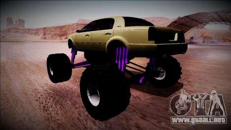 GTA 4 Washington Monster Truck para GTA San Andreas left