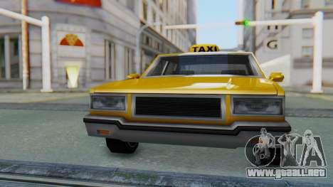 Taxi Version of LV Police Cruiser para la visión correcta GTA San Andreas