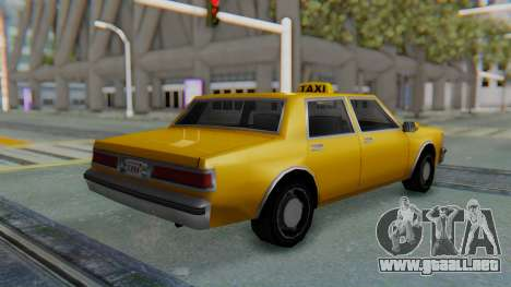 Taxi Version of LV Police Cruiser para GTA San Andreas left