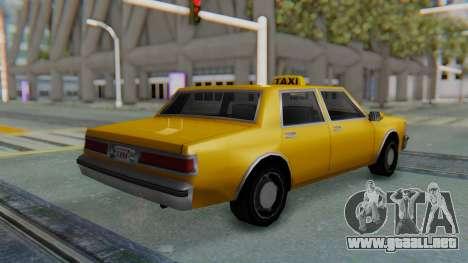 Taxi Version of LV Police Cruiser para GTA San Andreas left