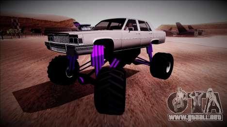 GTA 4 Emperor Monster Truck para GTA San Andreas vista posterior izquierda
