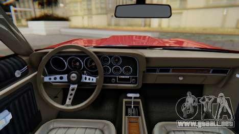 Ford Gran Torino Sport SportsRoof (63R) 1972 PJ1 para la visión correcta GTA San Andreas