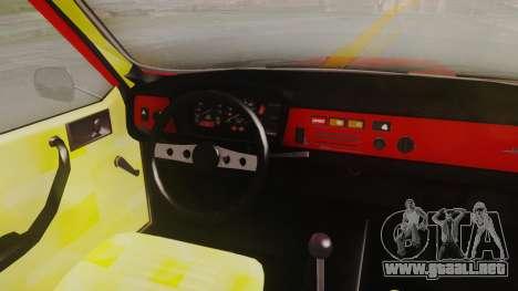 Renault 12 Toros v2 para GTA San Andreas vista hacia atrás